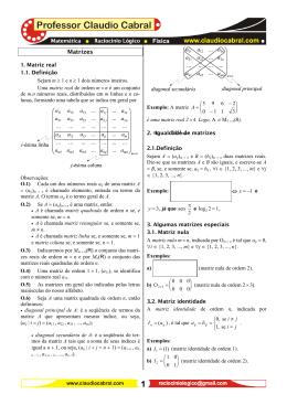 Matrizes_ 01 - Professor Claudio Cabral