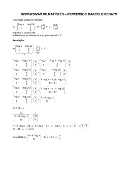 1) (Unesp) Dadas as matrizes: