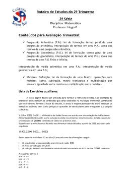 Matemática - Colégio Santo Ivo