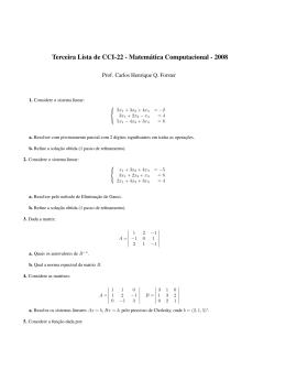 Terceira Lista de CCI-22 - Matemática Computacional