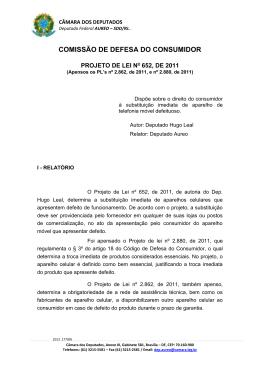 PROJETO DE LEI ORD - Câmara dos Deputados