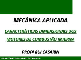 Características Dimensionais dos Motores