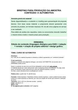 034-10 CP-BRIEFING PARA PRODUÇÃO DA AMOSTRA