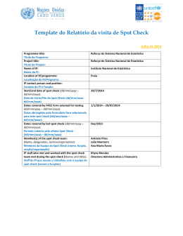 Template do Relatório da visita de Spot Check