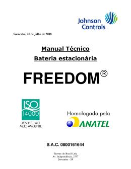 Baterias Freedom - Manual Técnico