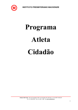 Programa Atleta Cidadão