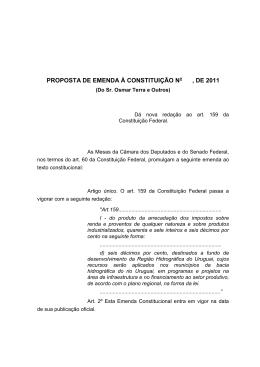 proposta de emenda à constituição nº , de 199