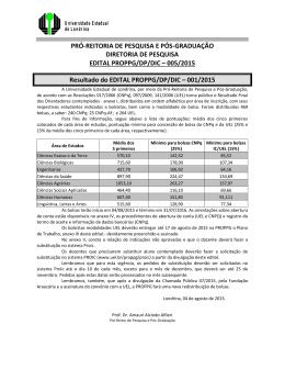 Edital Proppg/DP/DIC 005/2015