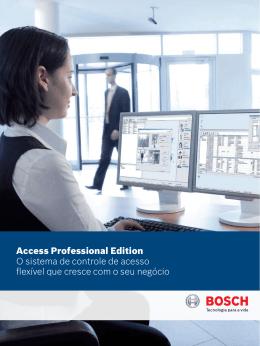 Access Professional Edition O sistema de controle de acesso