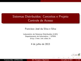 Sistemas Distribuídos: Conceitos e Projeto Controle de Acesso