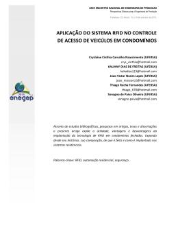 aplicação do sistema rfid no controle de acesso de