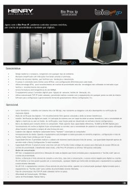 Bio Prox ip - Micromaq - Controle de Ponto e Acesso