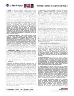 TERMOS E CONDIÇÕES GERAIS DE VENDA Publication 6500(PT