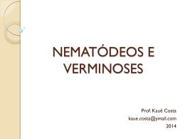 NEMATÓDEOS E VERMINOSES