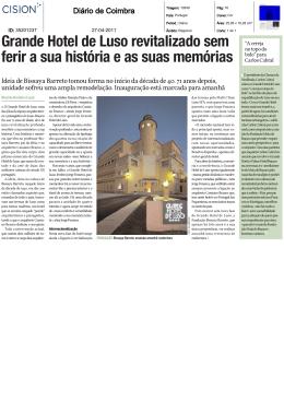 Grande Hotel de Luso revitalizado sem ferir a sua