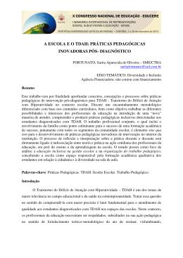 a escola e o tdah: práticas pedagógicas inovadoras pós