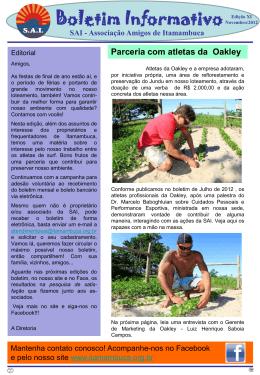 Boletim Informativo - Associação Amigos de Itamambuca