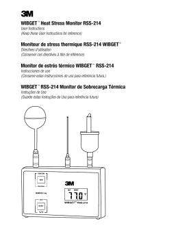 Moniteur de stress thermique RSS-214 WIBGET