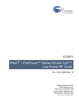 PSoC 1 FirstTouch™ Starter Kit with CyFi™ Low-Power
