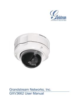 Grandstream Networks, Inc. GXV3662 User Manual