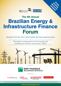 Brazilian Energy & Infrastructure Finance Forum