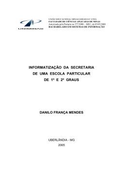 informatização da secretaria de uma escola particular de 1º e 2º graus