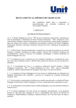 REGULAMENTO ACADÊMICO DE GRADUAÇÃO