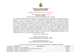 Edital de Notificaçao de Exclusao do Simples Nacional