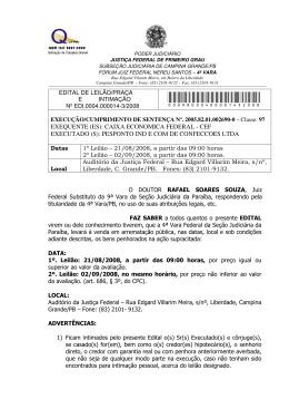 Edital completo em PDF - Justiça Federal na Paraíba