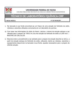 TÉCNICO DE LABORATÓRIO/QUÍMICA-CRP