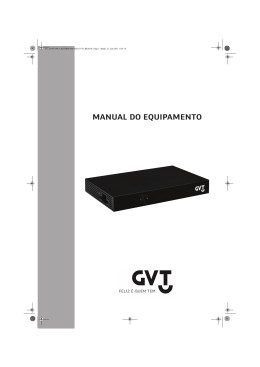 MANUAL DO EQUIPAMENTO