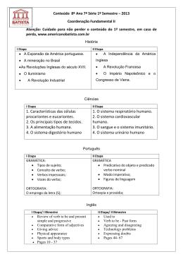 I e II etapa - Colegio Americano Batista