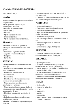 Ensino Fundamental 2 - INSTITUTO SÃO BENTO DE NITERÓI www