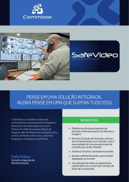 SafeVideo - Commbox Tecnologia