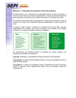 Módulo 6 – Composto de produtos e linha de produtos
