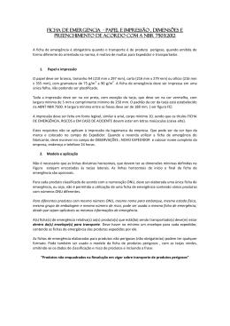 FICHA DE EMERGENCIA - PAPEL e impressão