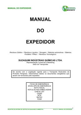MANUAL DO EXPEDIDOR