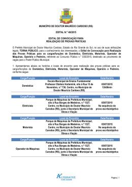 Edital 40-2015 - Convocação para prova prática