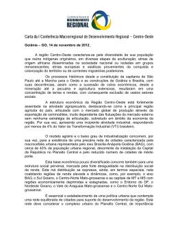 Goiânia – GO, 14 de novembro de 2012. A região Centro