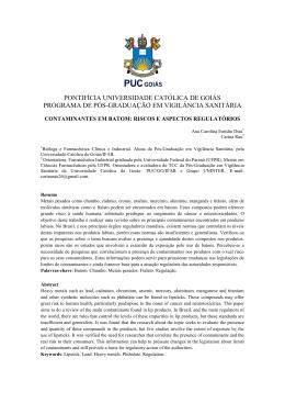 Contaminantes em batom: riscos e aspectos regulatórios