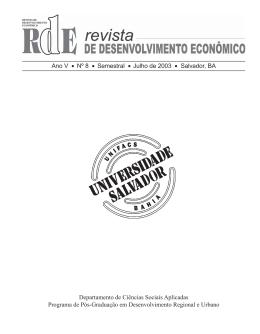 acessar - Programa de Pós Graduação em Desenvolvimento