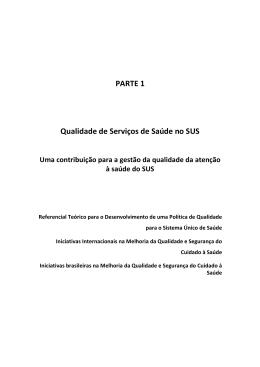 Relatório_Qualidade de Serviços de Saúde no