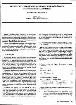 pot~nciaativa e reativa instantâneas em sistemas elétricos
