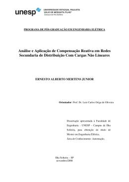 Análise e Aplicação de Compensação Reativa em Redes