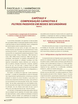 capítulo v compensação capacitiva e filtros passivos em redes