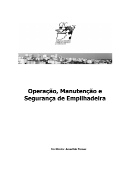 Operação, Manutenção e Segurança de Empilhadeira