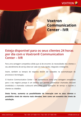 Voxtron Communication Center – IVR