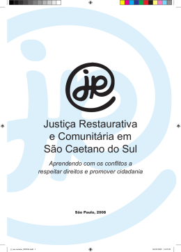 Justiça Restaurativa e Comunitária em São Caetano do Sul/SP