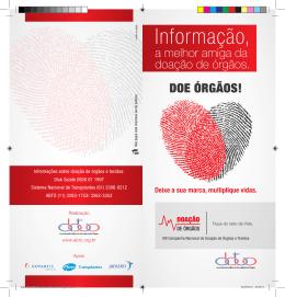Informação, - ABTO | Associação Brasileira de Transplante de Órgãos