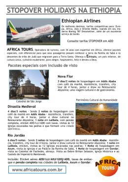 stopover holidays na ethiopia